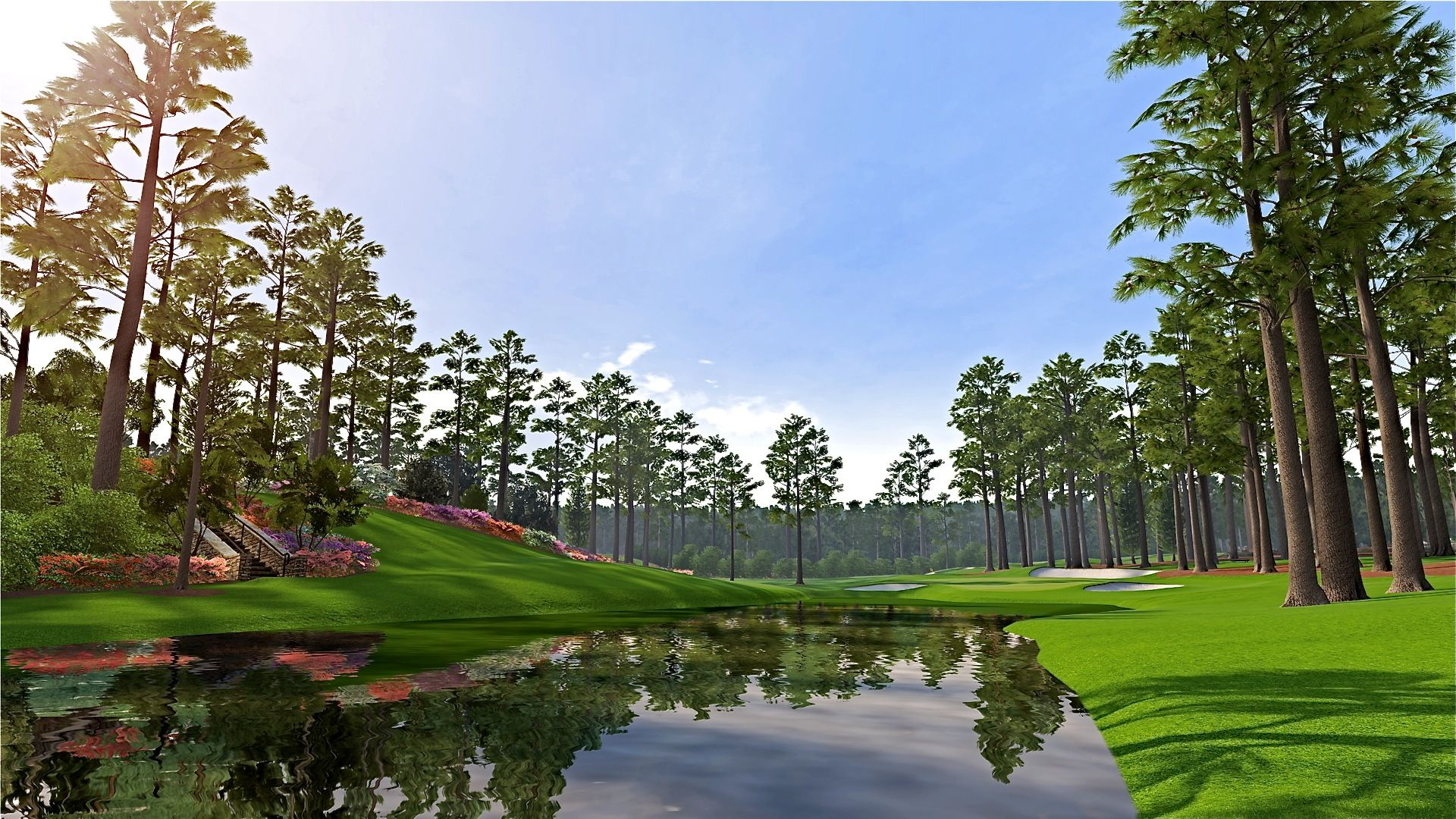 Augusta National 16th hole. Just beautiful. golf