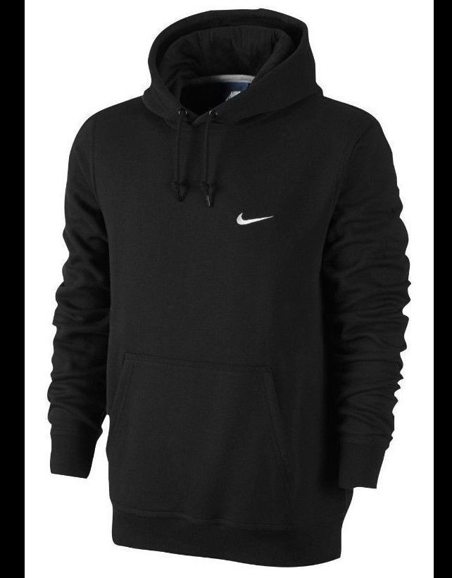 cf5ab47d43db New Nike Mens Black Pullover Fleece Lined Hooded Sweatshirt Drawstring  Hoodie  Nike  Hoodie