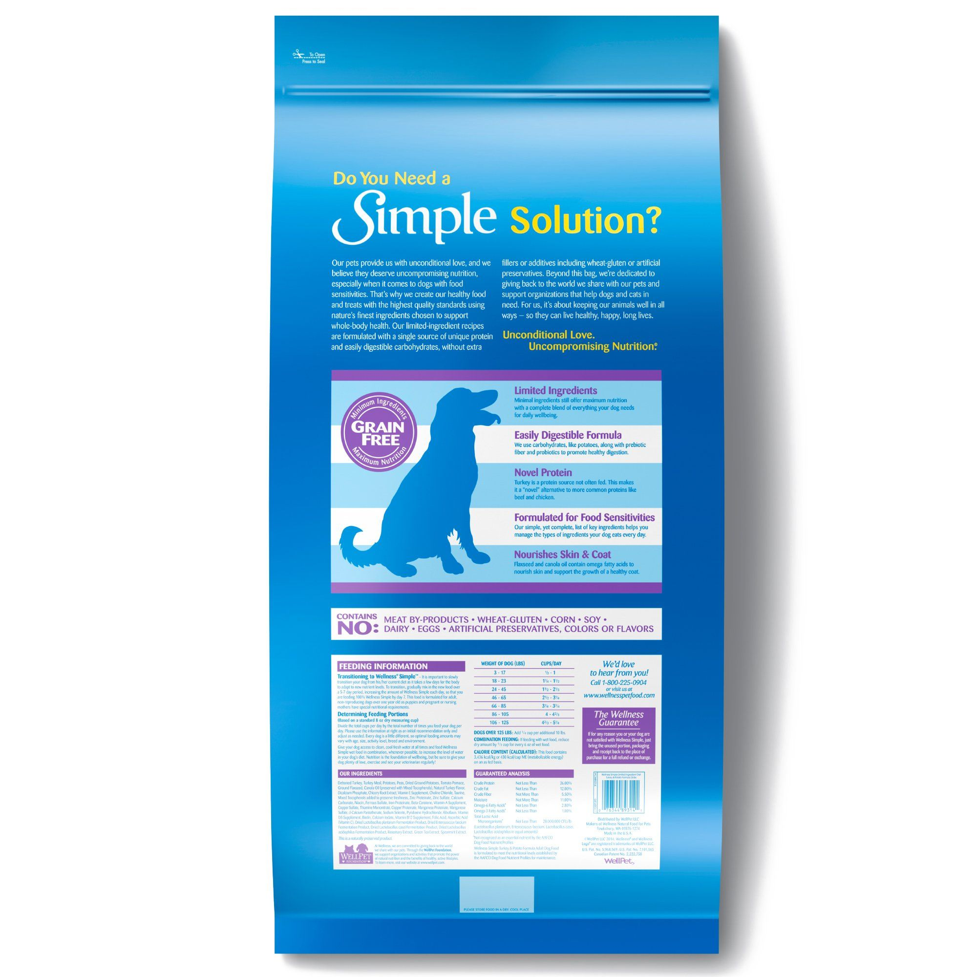 Wellness Simple Natural Grain Free Limited Ingredient Turkey And Potato Recipe Dry Dog Food 26 Lbs Petco In 2020 Healthy Dog Food Recipes Dry Dog Food Dog Food Recipes