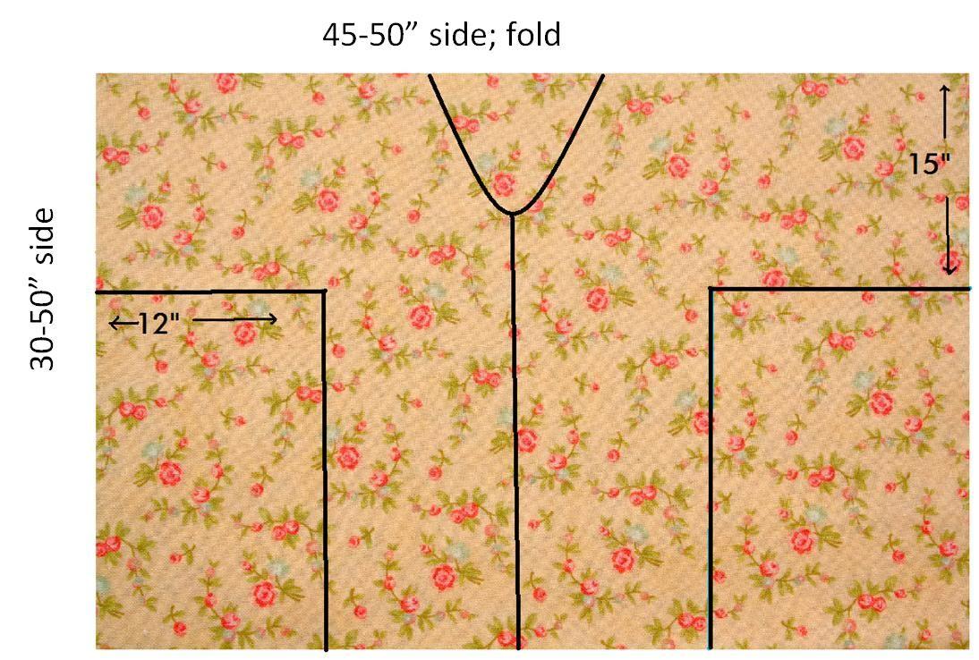 instructions how to cut a kimono cardigan image