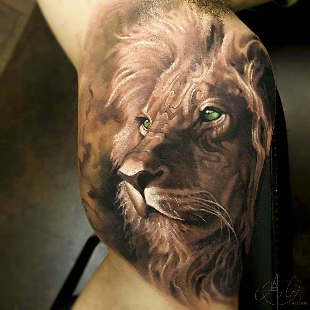 arlo-dicristina-tatuaje-leon-estilo-acuarela-realista | TATUAJES ...