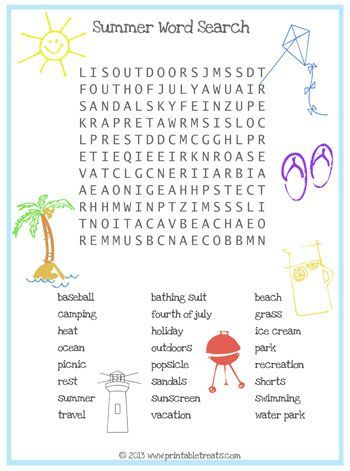 Sly image regarding free printable summer word search