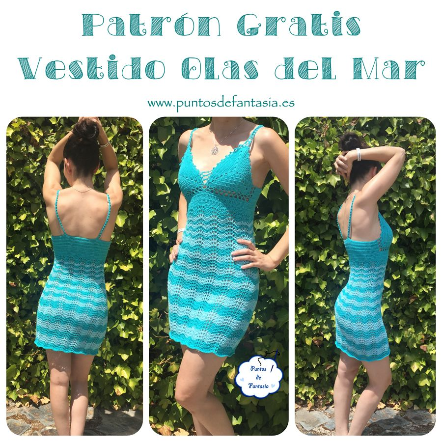 patron gratis vestido olas del mar   Vestidos a Crochet   Pinterest ...