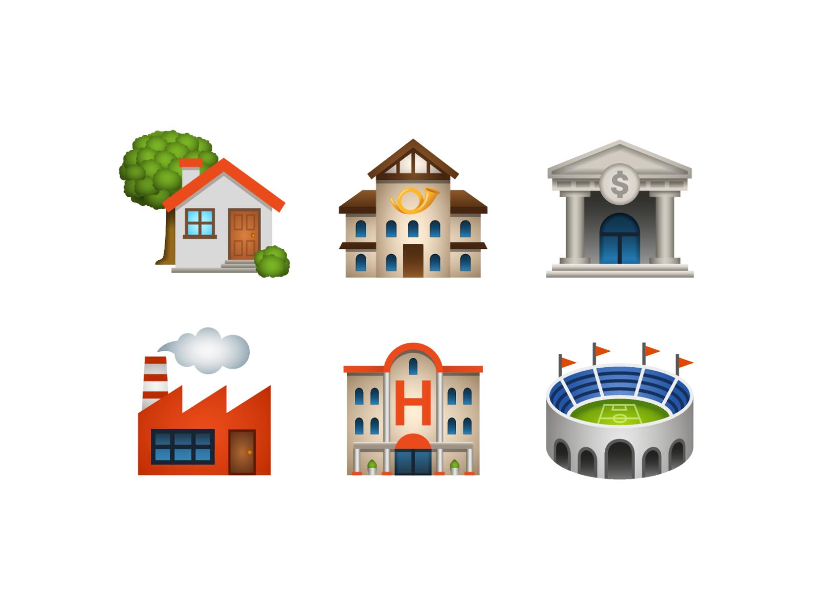 Emoji Place Building Emoji Places Building