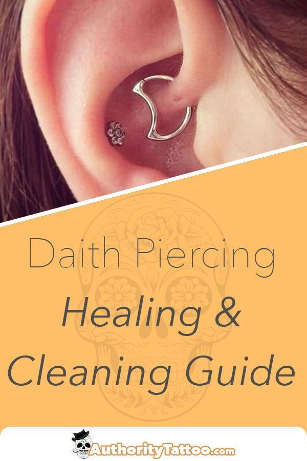 Daith Piercing Healing & Cleaning Guide | Daith piercing ...