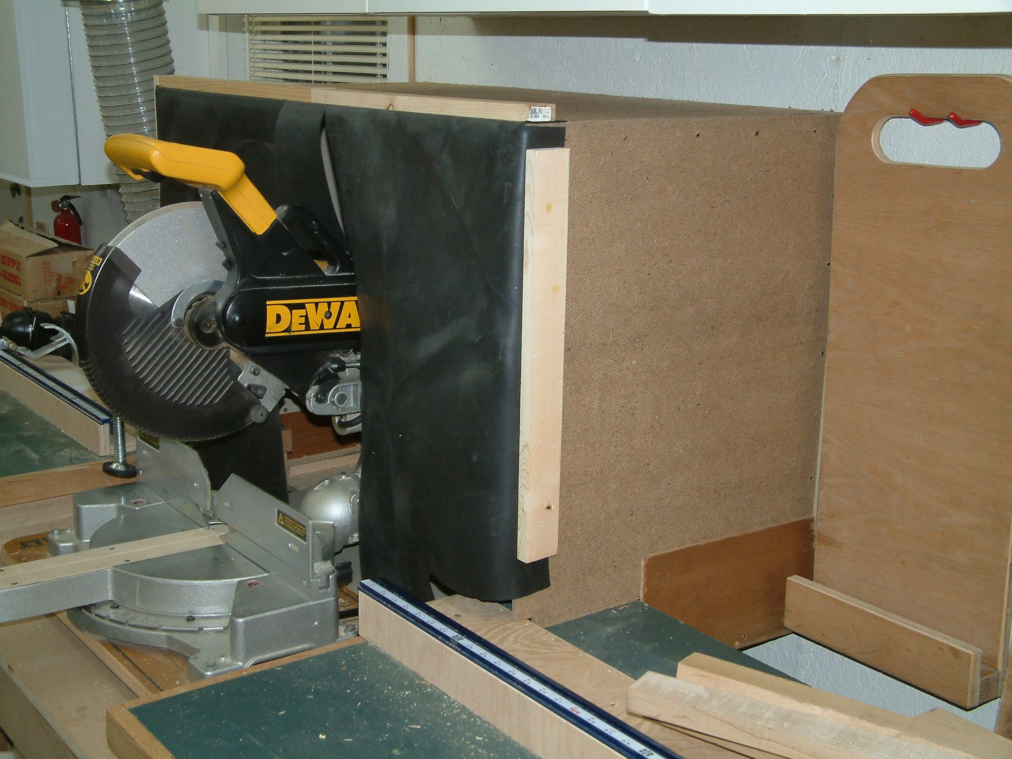 Miter Saw Dust Collection Hood Projects Pinterest