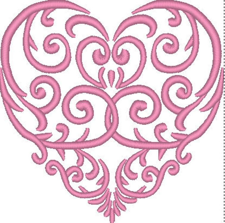 Free Embroidery Design: Scrolled Heart | Free Embroidery
