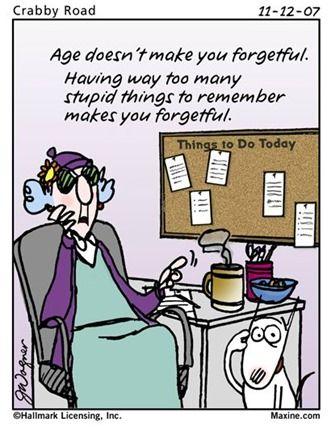 Forgetful Forgetfulness Humor Workplace Humor Birthday Cartoon