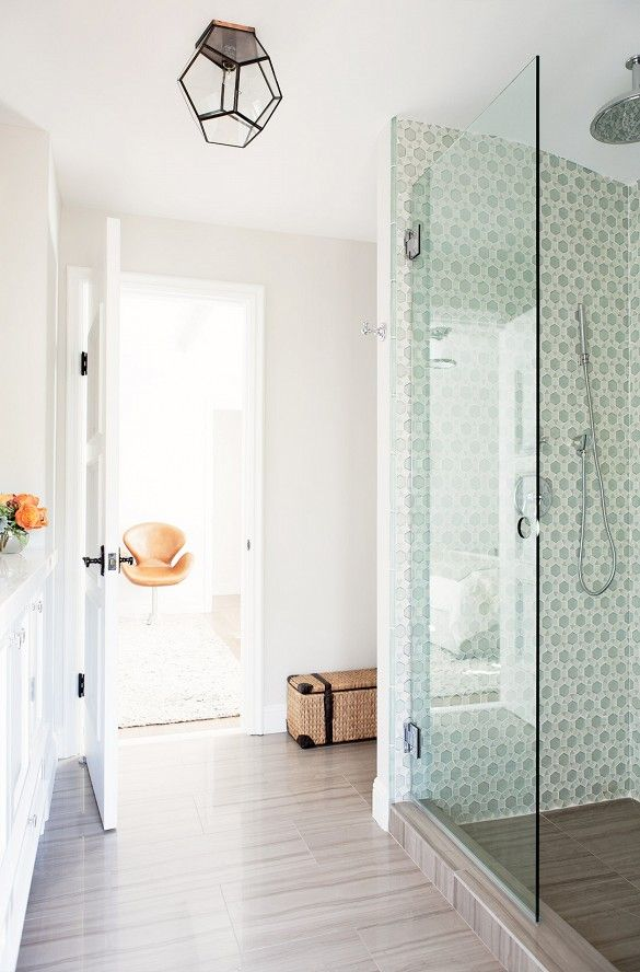Decorative Accent Tiles For Bathroom Impressive Home Tour A Calm And Airy Home In Pacific Palisades  Pacific Design Decoration