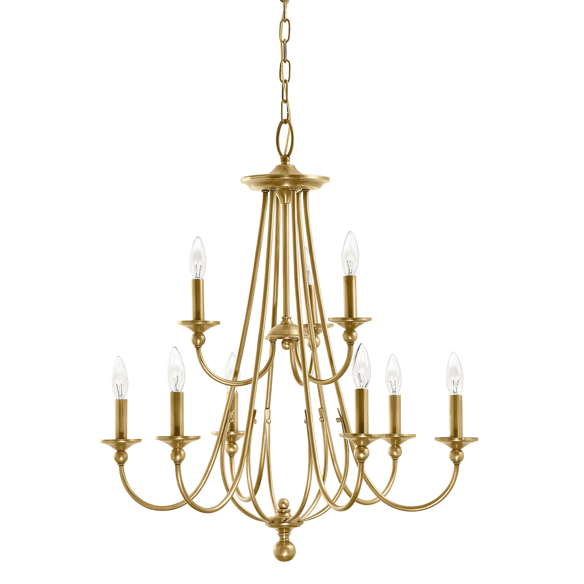 Option for dining area kichler camella 9 light chandelier 34695 shop kichler lighting 2 tier natural brass chandelier at lowes canada find our selection of chandeliers at the lowest price guaranteed with price match aloadofball Image collections