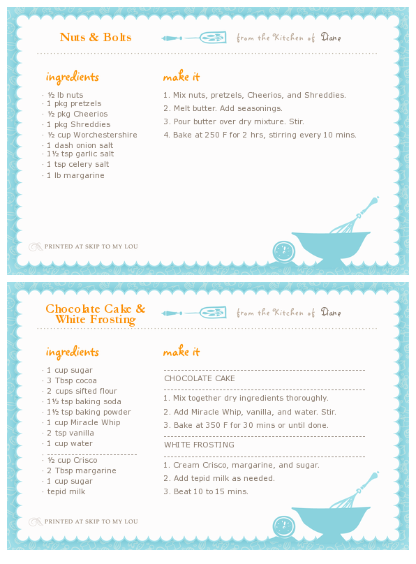Printables Random Mommy Musings Recipe Cards Printable Recipe Cards Recipe Cards Template