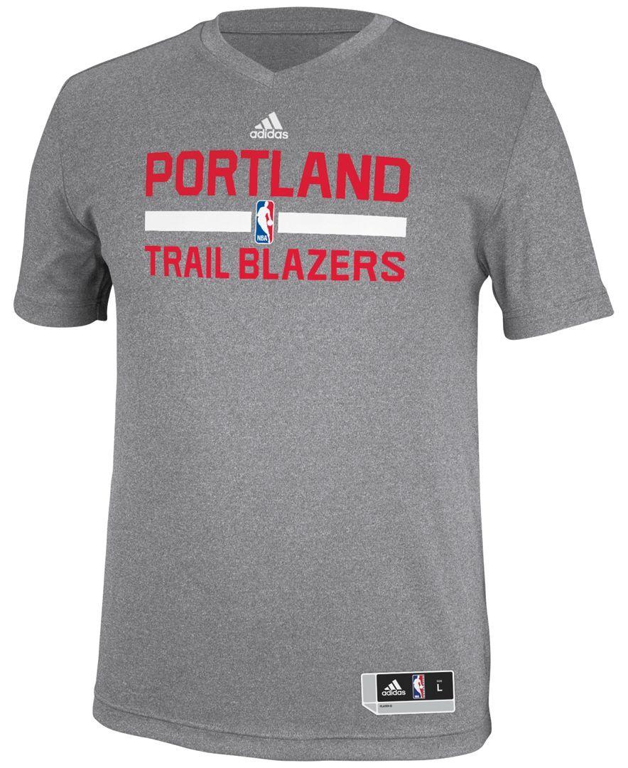 brand new c38aa 8eed2 adidas Men's Portland Trail Blazers Practice Graphic T-Shirt ...