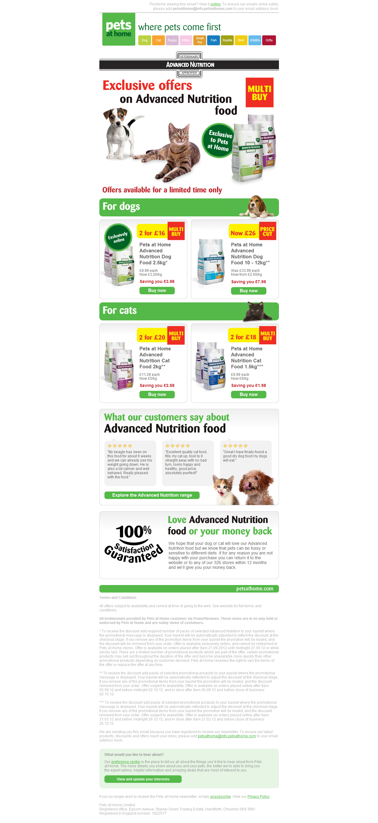 Pets At Home Email Design Email Design Buy Foods Nutrition Recipes