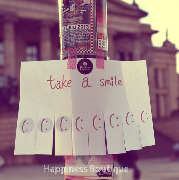 take a smile fun campaign by Happiness Boutique
