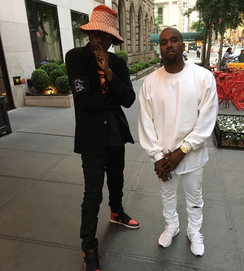 fc17140a2aa ... promo code for theophilus london wearing the bred air jordan 1 kanye  west wearing the white
