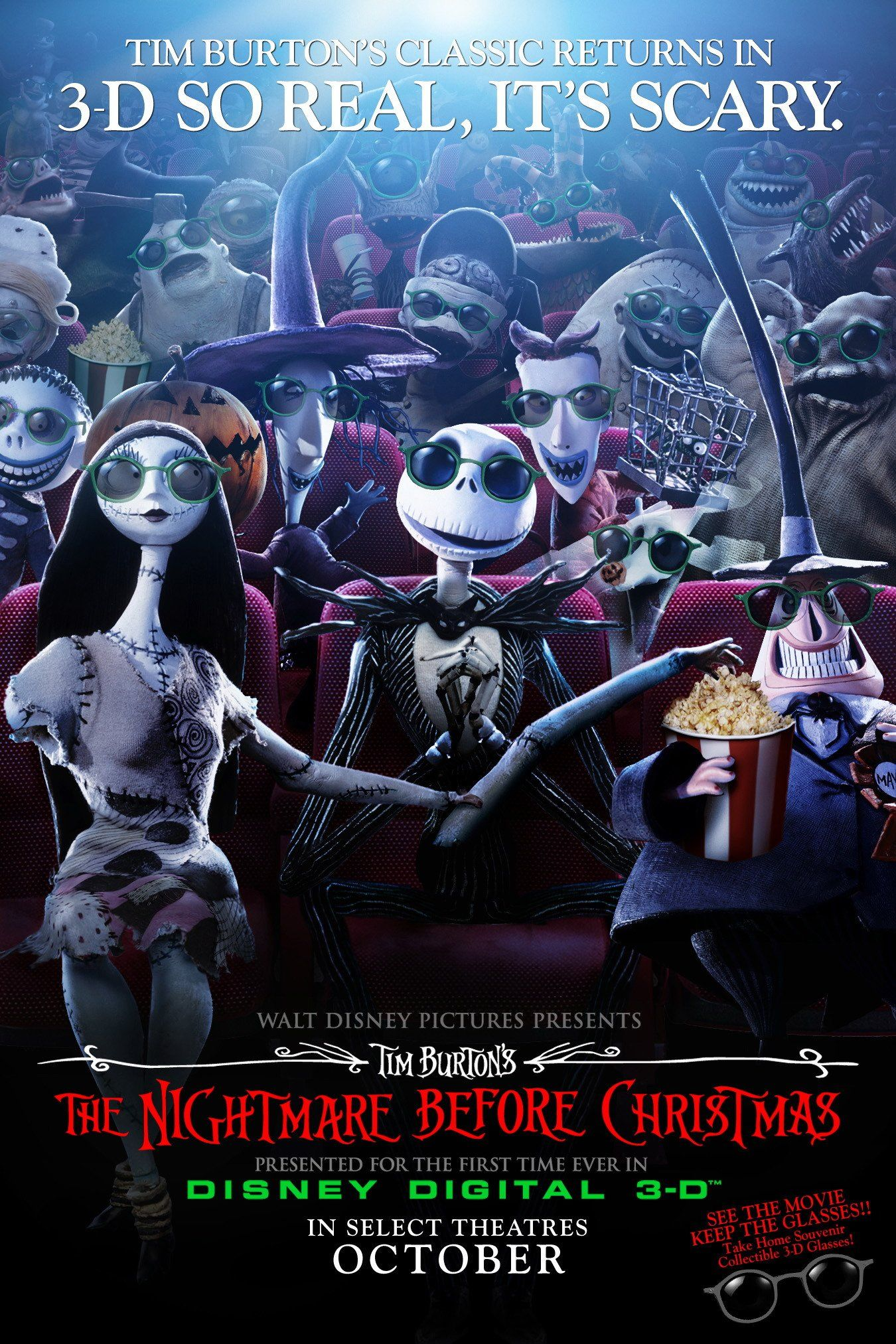 TB071. The Nightmare before Christmas / American Movie Poster 3-D ...