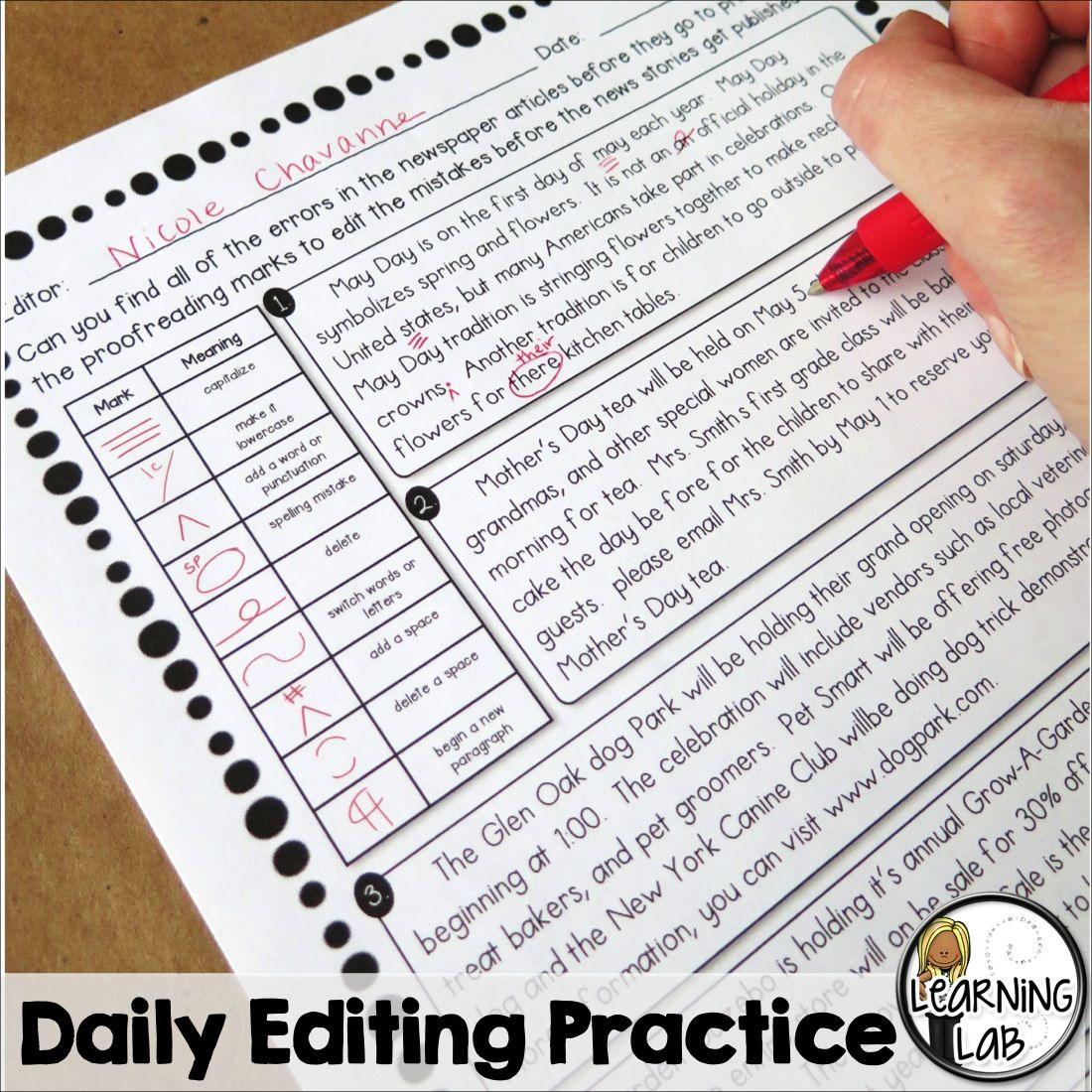 Daily Editing Practice To Help Improve Writing