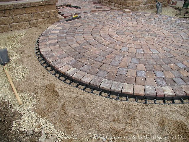 Paver Patio Front Entry   Interlocking Paver Edge Restraint Installed |  Flickr   Photo Sharing!