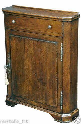 Very Narrow Walnut Hall Cabinet 7 Depth 2 Adjustable Shelves New
