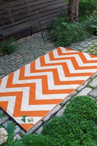 Orange L White Indoor Outdoor Rugs