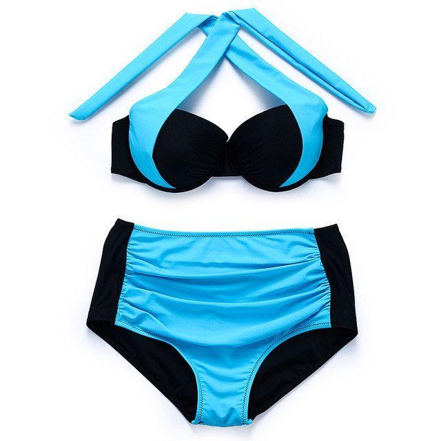 New Sexy Bikinis Women Swimsuit Push Up Bikinis Bathing Suits Halter Summer Beach Wear Swimwear
