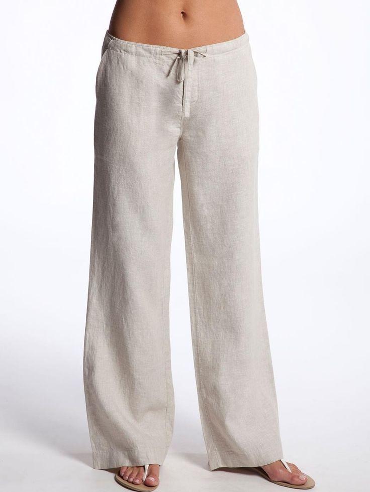 Drawstring Linen Pants For Women