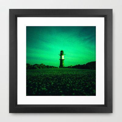 GREEN LIGHTHOUSE Framed Art Print by Steffen Remter +++ Check out and love: http://society6.com/balticlapse Follow me on G+: http://www.google.com/+RemterDE  +++ #lighthouse #photography #Steffen #Remter #architecture #balticlapse #green #sea #coast #lomo #lomography #perspective #Fotografie #Leuchtturm