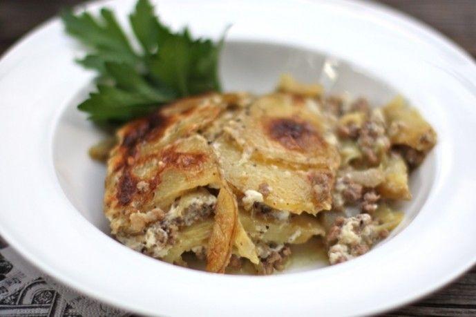 Serbian Mousaka Recipe.  Peasant food in its simplest form: Balkan Comfort Food.