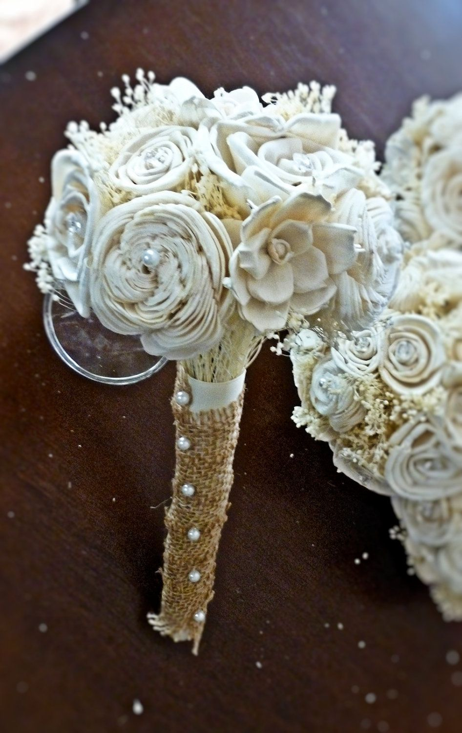Custom Ivory Wedding Bouquet- Bridal Bouquet, Bridesmaid Bouquet ...