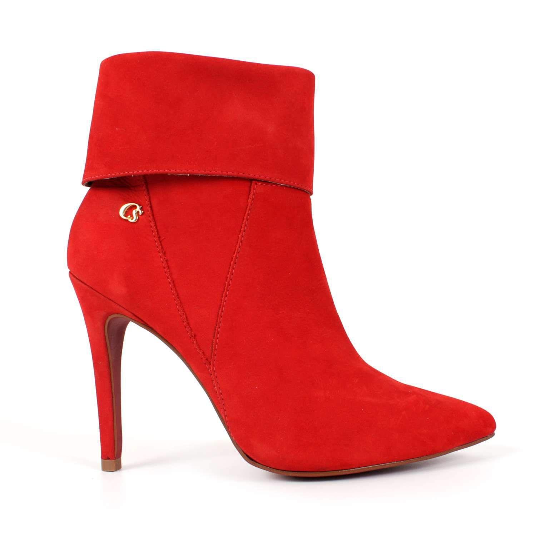 75c8560e663 Bota Vermelha Com Lapela Carmen Steffens Botas Vermelhas