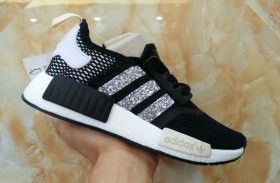 super popular 53d41 4b860 Adidas Originals NMD PK Black Glitter Sneakers