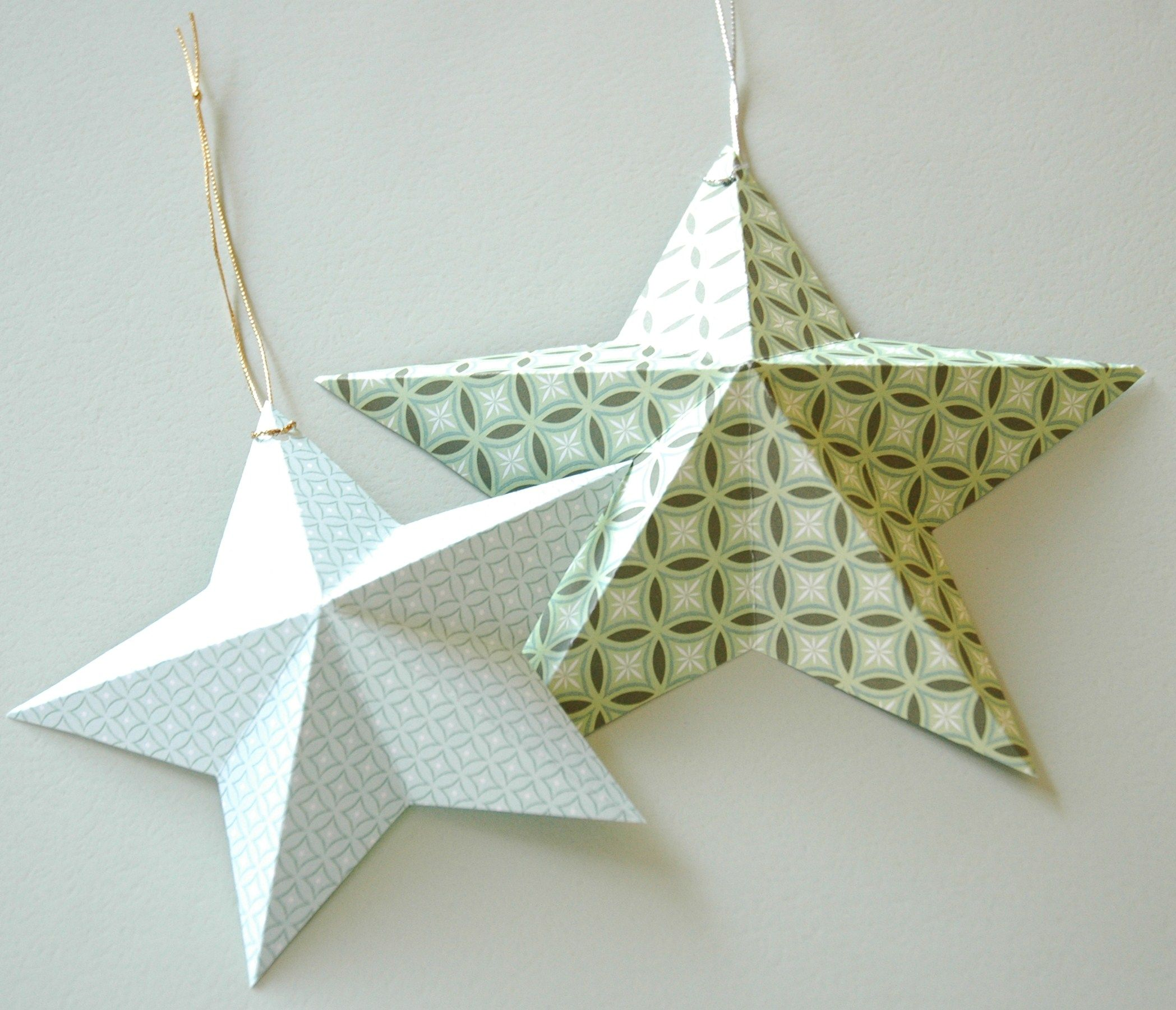 3 D Christmas Star Christmas Ornament Template Christmas Star