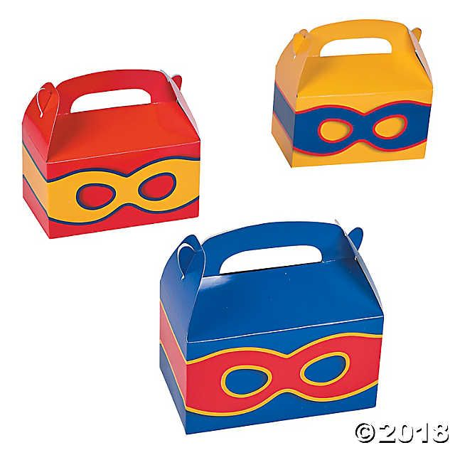 Superhero Favor Boxes #superherogifts
