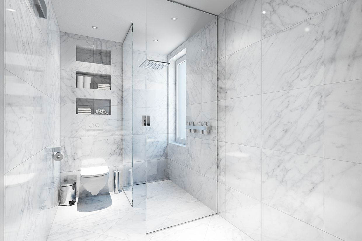 apartment-astonishing-white-marble-bathroom-with-glass-wall-door ...