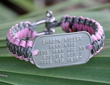 Dog Tag Survival Bracelets Men Women Children Pets With Or W