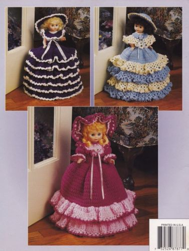 Dolly-Doorstops-Annies-Crochet-Pattern-87H77-Doll-Clothes-Pajama-Bags-NEW