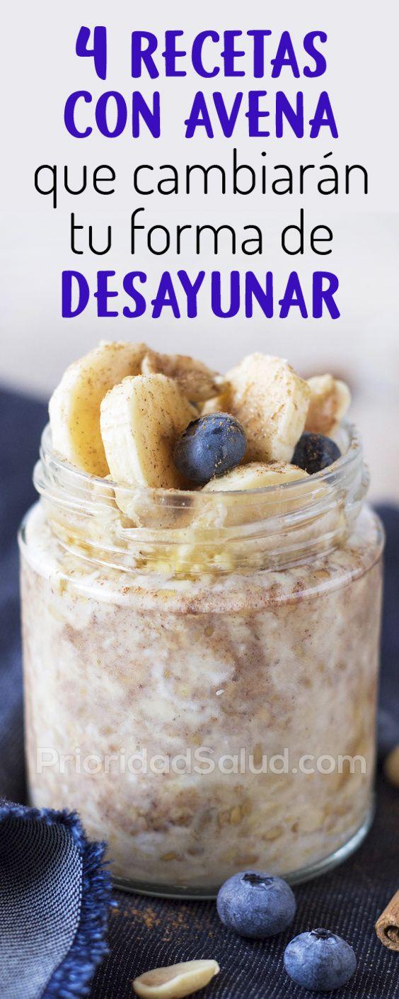 4 Recetas Con Avena Que Revolucionaran Tu Desayuno Healty Food Eat Breakfast Workout Food