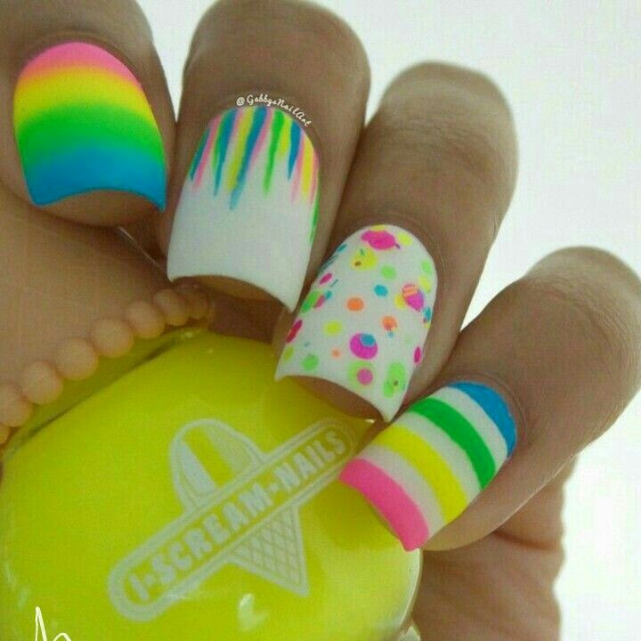 50 Colorful creative nail ideas for summer 2017 | Uña | Pinterest ...
