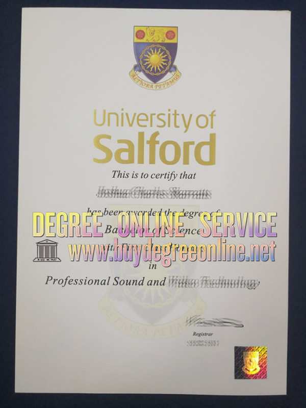 How to obtain a fake University of Salford degree online