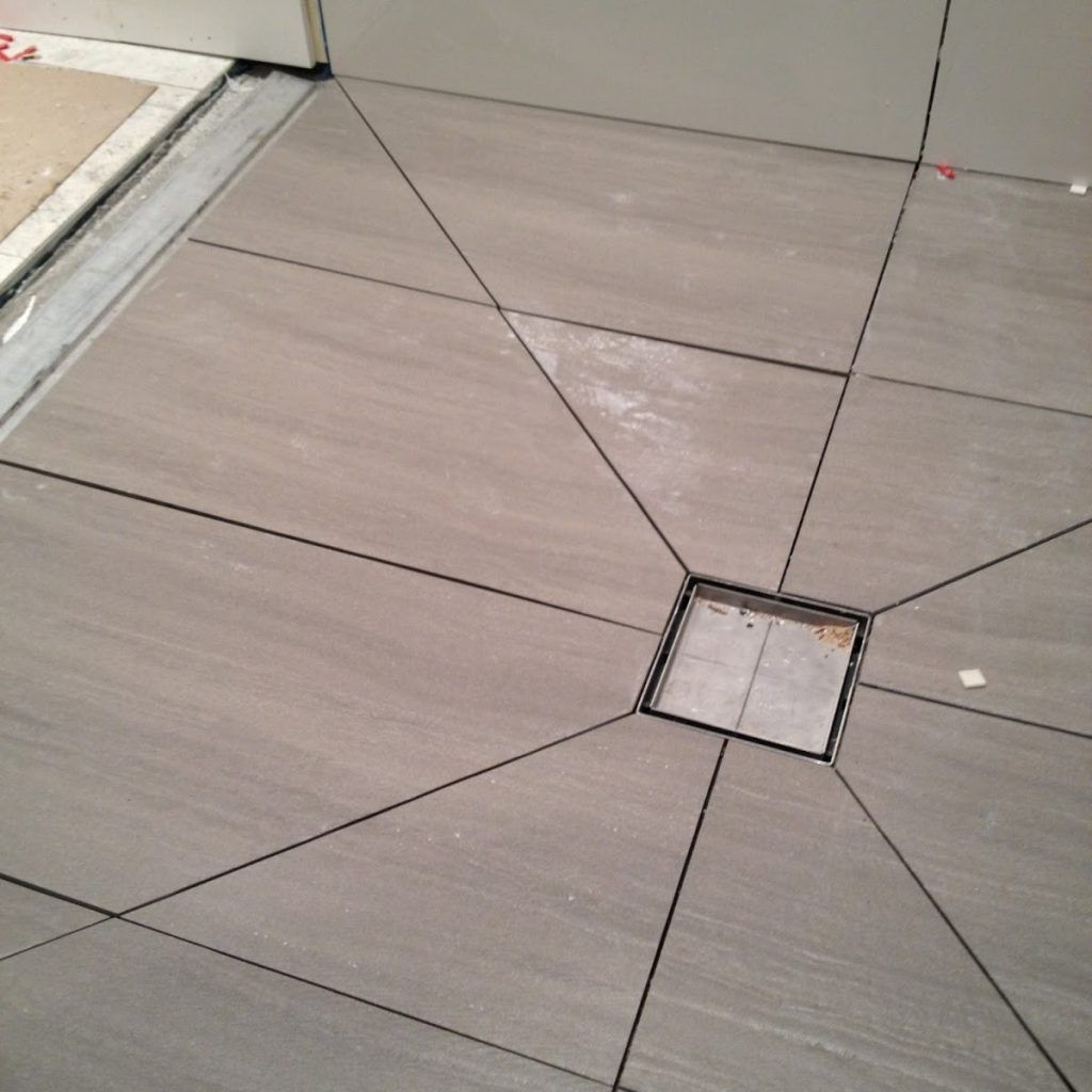 Tiling A Shower Floor With Large Tiles With Images Large