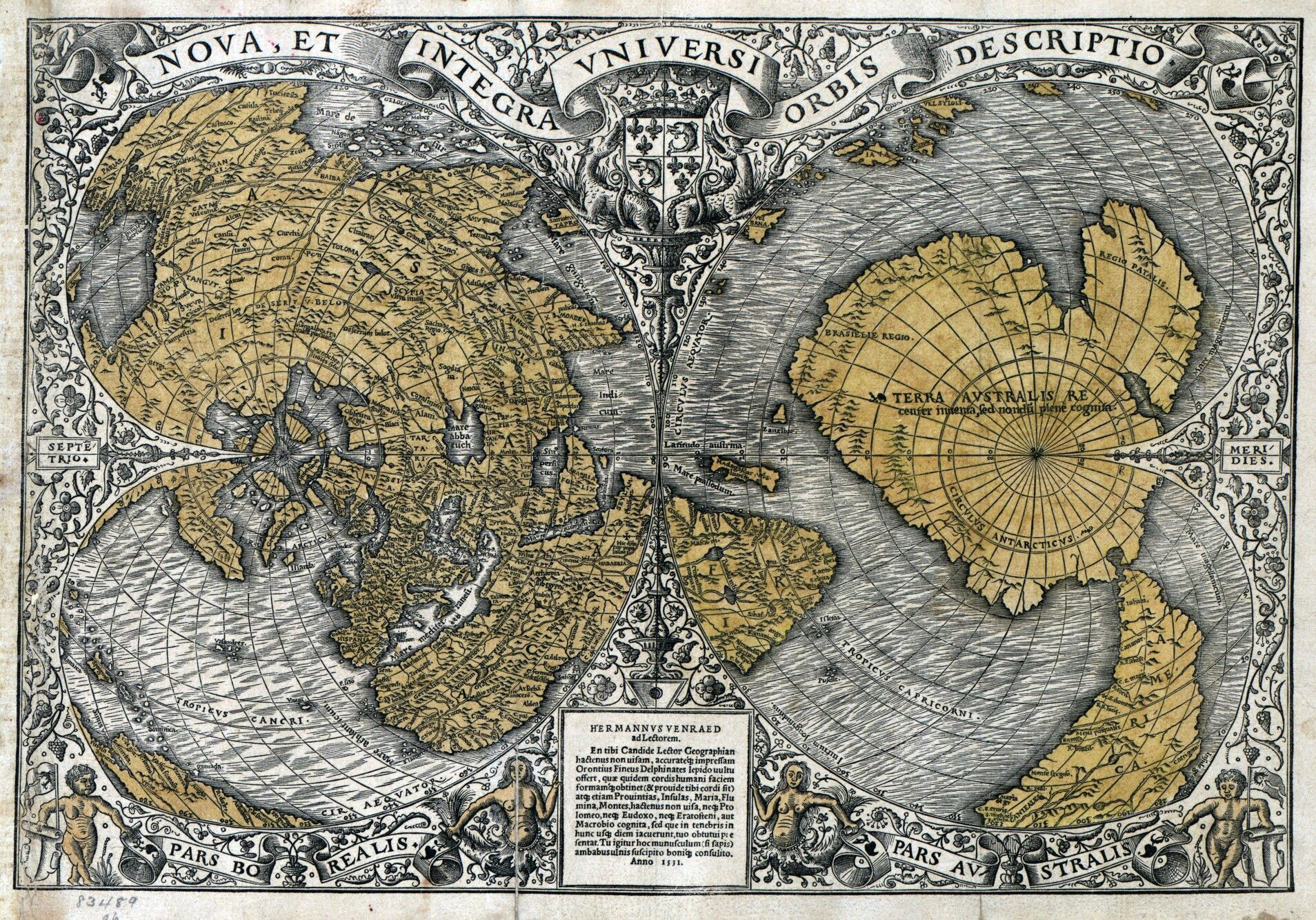 The Orontius Finaeus map was found in