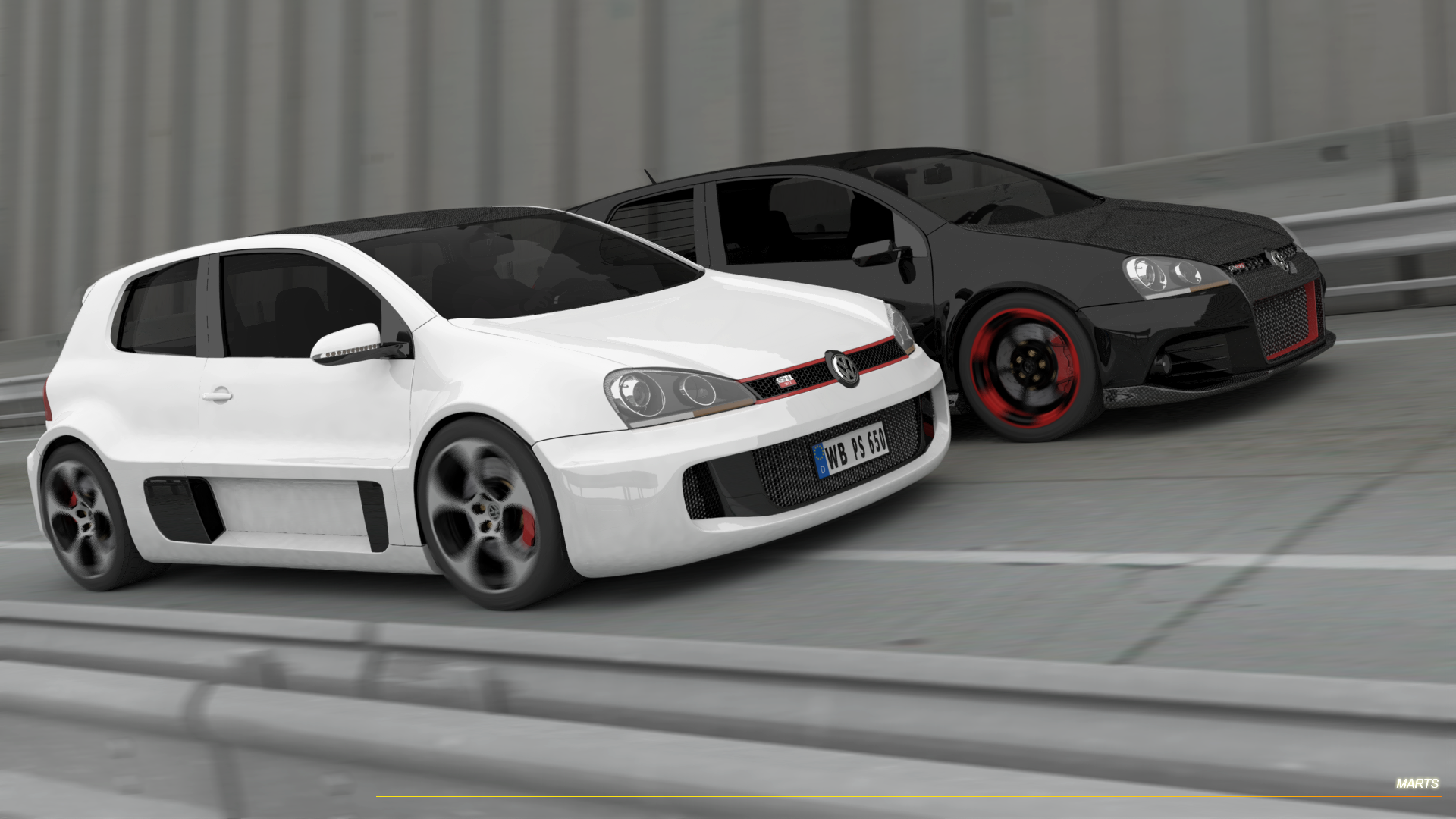 vw golf gti w12 two of the best colors car things. Black Bedroom Furniture Sets. Home Design Ideas