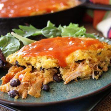 Chicken Enchilada Cornbread Casserole #mexicancornbreadcasserole