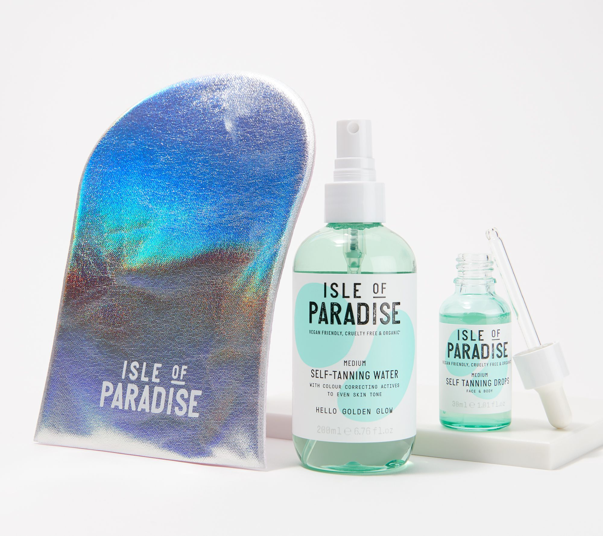 Isle of Paradise SelfTanning Drops & Water Set with Mitt