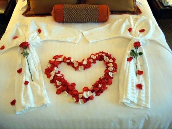 Wedding 1st Night Bed Decoration Ideas (37)