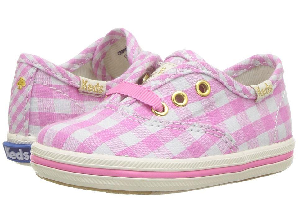 5e9073cd6aa Keds Kids Keds for Kate Spade Champion Seasonal Crib (Infant Toddler) Girls  Shoes Pink Gingham