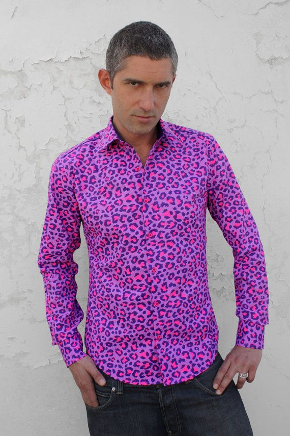 3f2838fe8bc1 Leopard print shirt for men Pink Leopard BAÏSAP by BAISAP, €49.00 ...