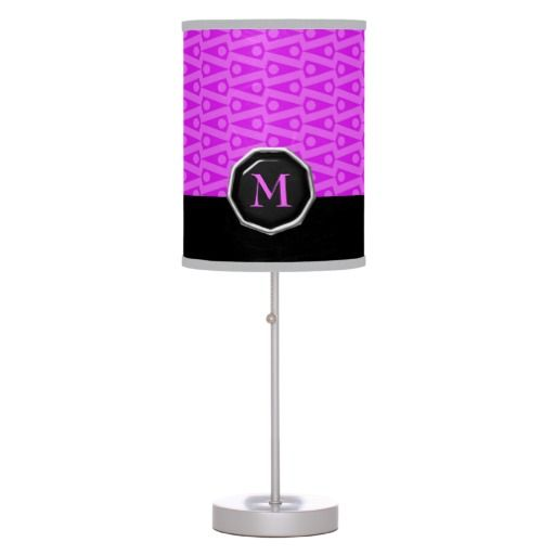 Cute Pink Monogram Table Lamp $52.95