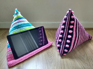 Sit back and relax, handsfree, with a cute pillow just for your tablet or Ipad!