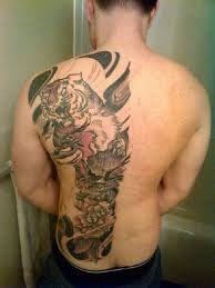 Half Back Tattoos : tattoos, Tiger, Tattoo, Tattoos, Guys,